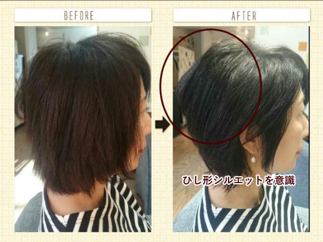 顔型をきれいに見せるヘアスタイル