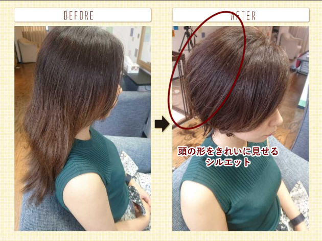 頭の形をきれいに見せるヘアスタイル