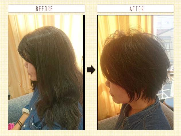 頭を小さく見せる髪型