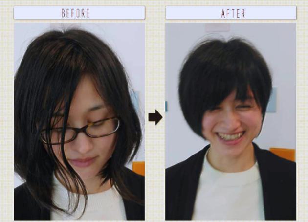 前髪アリショート