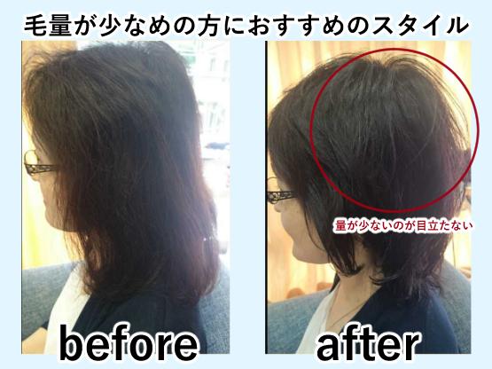 毛量が少ない人におすすめのヘアスタイル