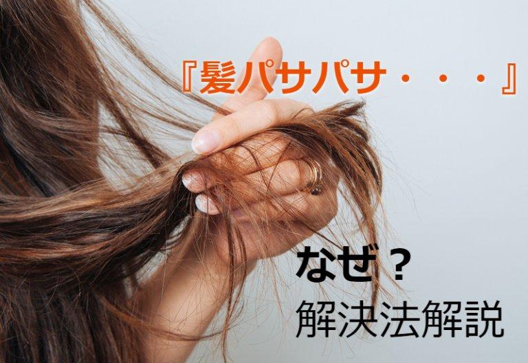 「髪の毛がパサパサ」治す方法を徹底解説!!