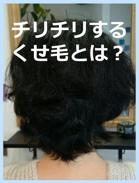チリチリタイプのくせ毛とは