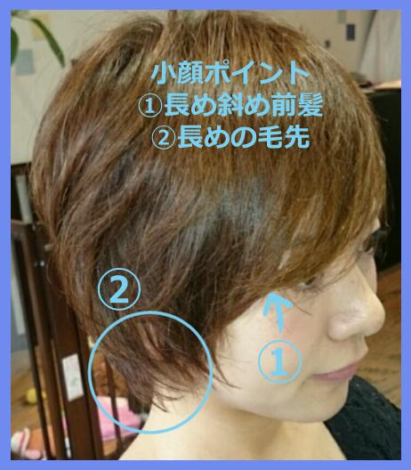 ショートヘアの小顔ポイント