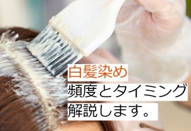 白髪染めはいつから始めるべき?タイミングや頻度を解説します。