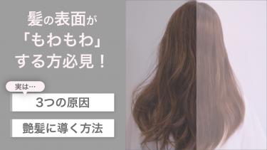 髪の毛の表面が「もわもわ」する3つの原因と艶髪に導く改善方法